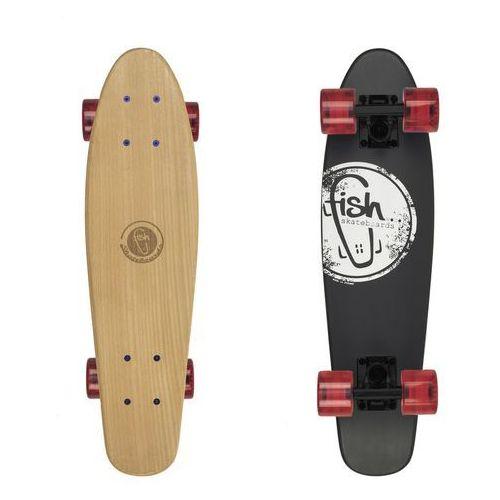 Fish skateboards Deskorolka fishskateboards wood black logo / black / transparent red