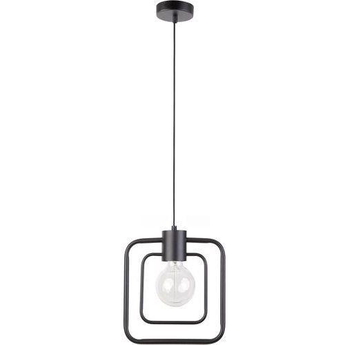 LAMPA wisząca FREDO KWADRAT 31503 Sigma metalowa OPRAWA kwadratowa ramka zwis czarny