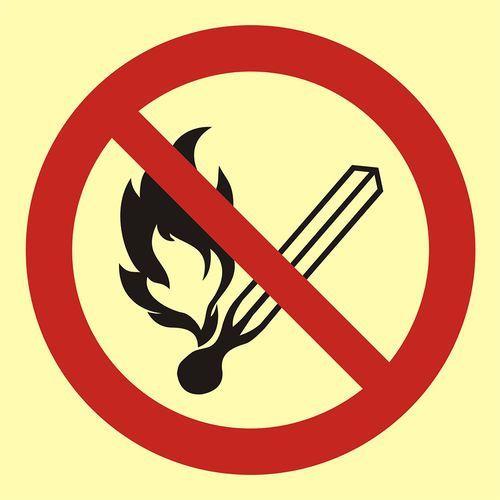Zakaz używania otwartego ognia - palenie tytoniu zabronione marki Top design