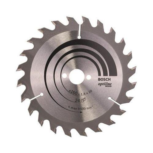 Tarcza tnąca Bosch Optiline Wood, śr.160 mm, 24 z/cal, 1 szt. (3165140373531)