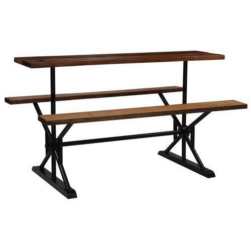 Stół barowy z ławkami, z drewna z odzysku, 180x50x107 cm marki Vidaxl