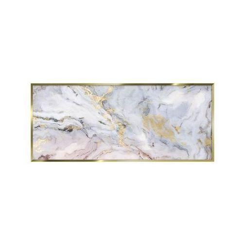 Obraz na szkle pink marble 125 x 50 cm w ramie marki Styler