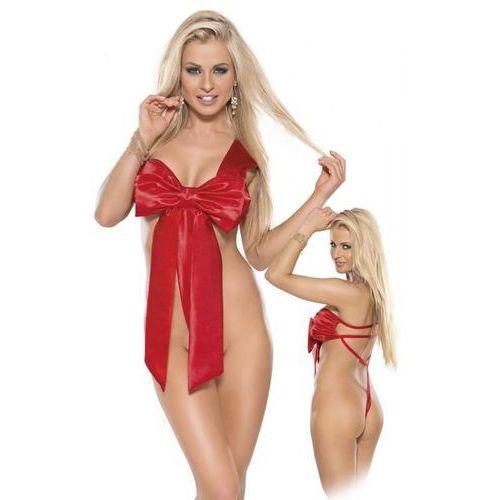 Strój prezent kokarda czerwony | 100% dyskrecji | bezpieczne zakupy marki Roxana