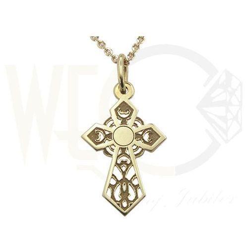 Medalik z żółtego złota wec-z-med-krzyżyk-2 wyprodukowany przez Węc - twój jubiler