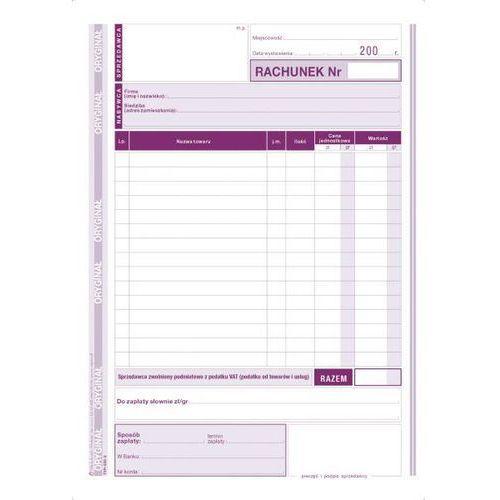 Rachunek dla zwolnionych z vat a5 pion (o+1k) - g0328 marki Michalczyk i prokop