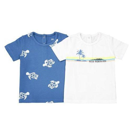 Komplet 2 wzorzystych t-shirtów 1 mies. - 3 lata marki R mini