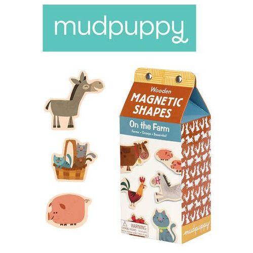 Mudpuppy - Zestaw drewnianych magnesów - Na farmie 40 elementów