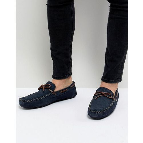 driving shoes in navy suede - blue marki Dune
