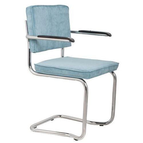 Zuiver fotel ridge kink rib niebieski 12a 1200050