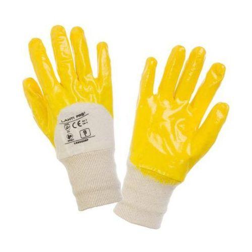 Lahti pro  rękawice nitryl, żółto-białe, rozmiar 10 opakowanie 12par /l220210w/ (5903755047892)