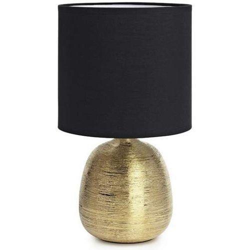 Ceramiczna lampa stołowa oscar 107068 abażurowa lampka stojąca złota czarna marki Markslojd