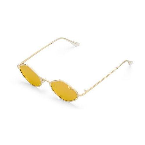 Okulary Słoneczne Quay Australia QC-000216 QUAYXKYLIE PURPLE HONEY GLD/GLD, kolor żółty