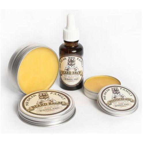 Mr Bear Family Woodland zestaw do brody wąsów wosk balsam olejek