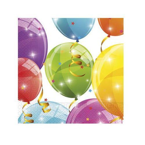 Procos non-disney Serwetki urodzinowe błyszczące baloniki - 33 cm - 20 szt.