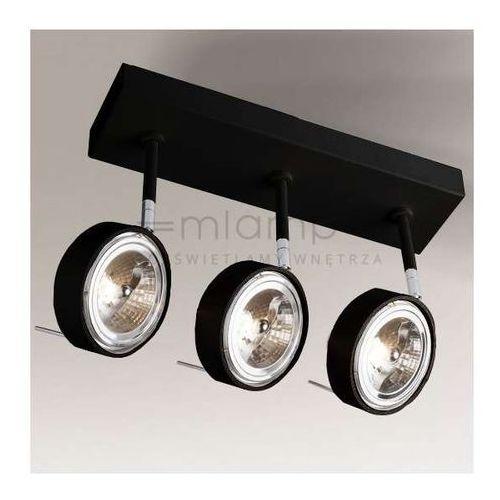Plafon lampa sufitowa fussa 2220/g53/cz regulowana oprawa metalowa spot reflektorowy czarny marki Shilo