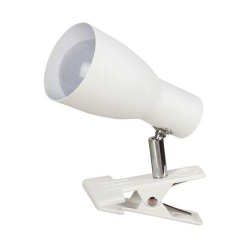 Lampa stołowa lampka spot z klipsem Rabalux Ebony 1x20W E27 biała 6026