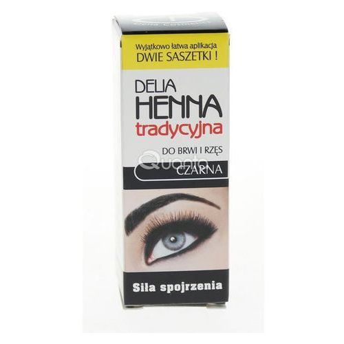 henna farbka do brwi odcień 1.0 black 2 g + 2 ml marki Delia cosmetics