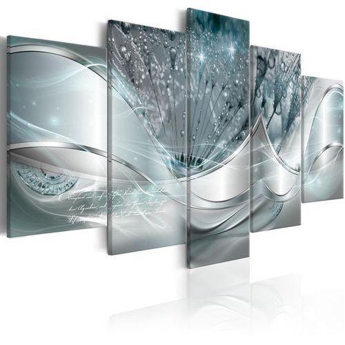 Artgeist Obraz - świecące dmuchawce (5-częściowy) niebieski szeroki