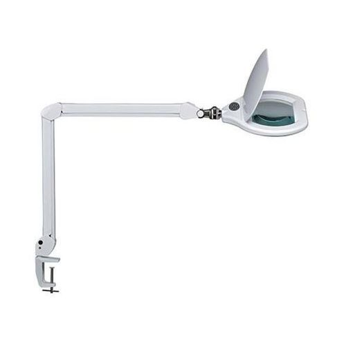 Lampka LED z lupą na biurko MAULcrystal, 17W, ze ściemniaczem, mocowana zaciskiem, biała, M8266002