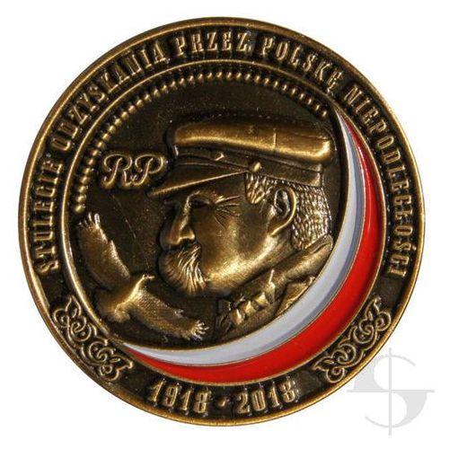 Pins - stulecie odzyskania niepodległości przez polskę 1918 - 2018 - stare złoto marki Sortmund