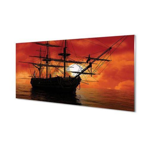 Tulup.pl Obrazy akrylowe statek morze niebo chmury słońce