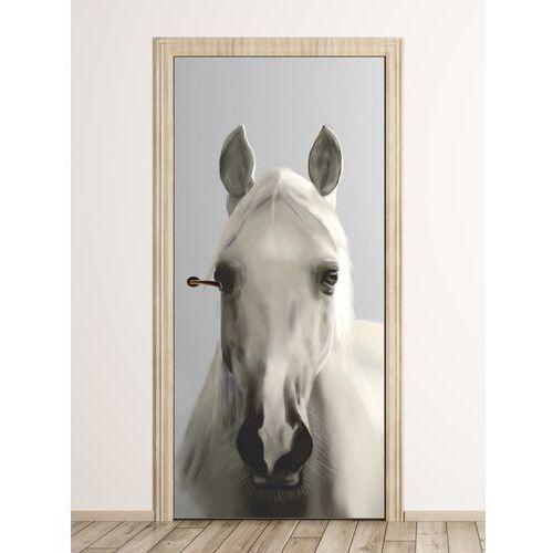 Wally - piękno dekoracji Fototapeta na drzwi biała klacz fp 6184