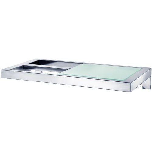 Blomus Uchwyt na papier toaletowy ze szklaną półką menoto stal matowa (b68831)