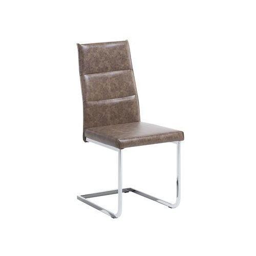 Krzesło do jadalni brązowe ROCKFORD, kolor brązowy