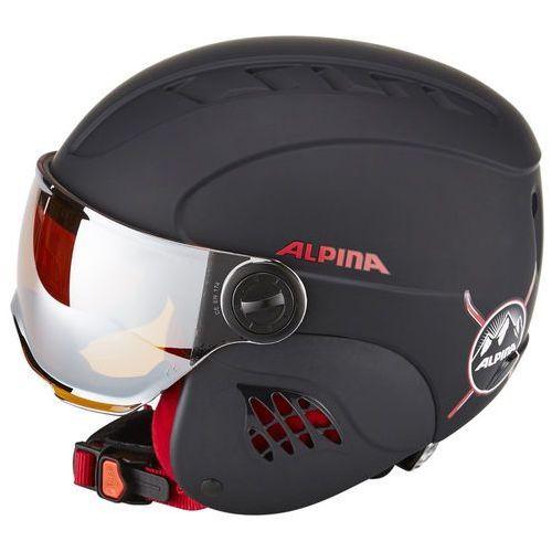 Alpina Carat LE Visor HM Black Red Matt 51-55