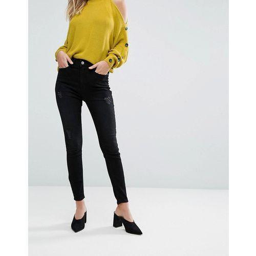 harper high waist skinny jeans - black marki River island