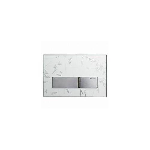 GEBERIT przycisk Sigma 50 biały z ornamentem/chrom 115.788.SC.1