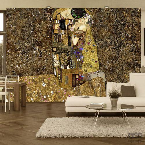 Fototapeta Klimt inspiracja - Złoty pocałunek l-A-0001-a-b