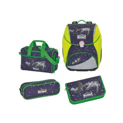 alpha plecak z akcesoriami szkolnymi, 4-częściowy - space marki Scout
