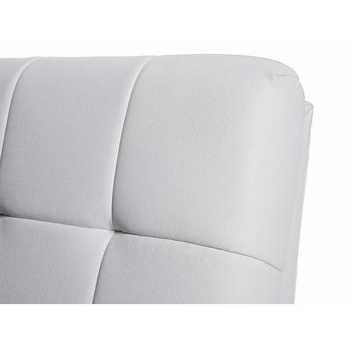 Beliani Nowoczesne skórzane łóżko 180x200 cm - lille białe