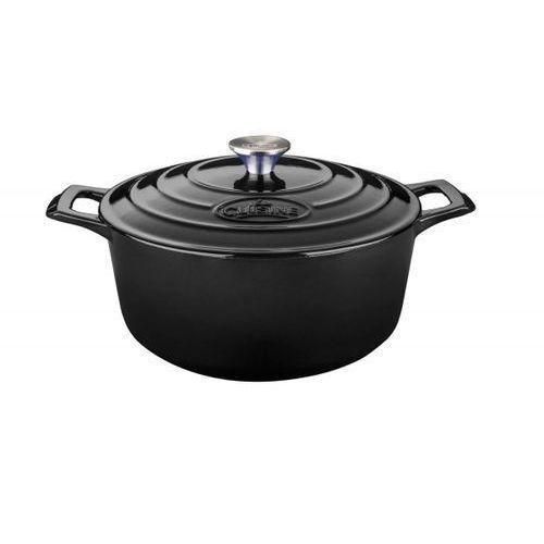 La Cuisine - Garnek żeliwny okrągły 20cm 2l Czarny, kolor czarny