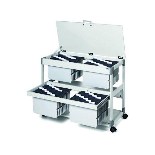 Durable Wózek na teczki zawieszkowe system file trolley 200 multi duo top (4005546301754) - OKAZJE