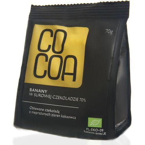 Banany w surowej czekoladzie BIO 70g - Cocoa (5902768064292)