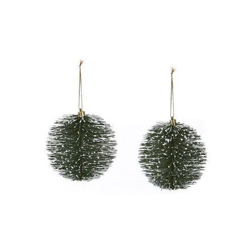 Bonprix Dekoracyjne kule choinkowe (2 szt.) zielony