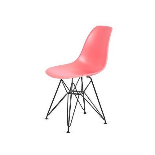 King home Krzesło plastikowe dsr black ciemna brzoskwinia.33 - podstawa metalowa czarna (5900168804814)