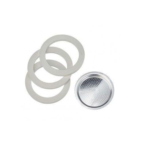 3 uszczelki + sitko do kawiarek aluminiowych Bialetti 6tz., 55.34.BL-UAL6