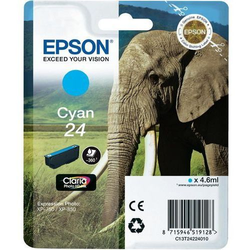 OKAZJA - 24 ink cartridge cyan standard capacity 4.6ml 360 pages 1-pack blister without alarm marki Epson