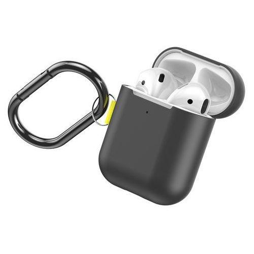 Baseus Let''s go AirPods Case silikonowe etui case na słuchawki AirPods 2gen / 1gen + karabińczyk / brelok szary (WIAPPOD-CGY) - Szary (6953156212497)