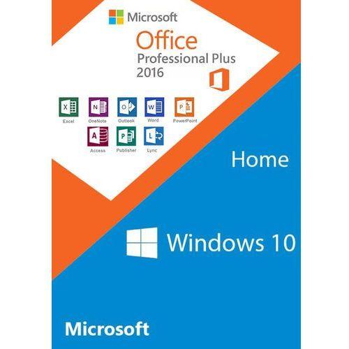 Windows10 home oem + office2016 professional plus cd keys pack marki Microsoft