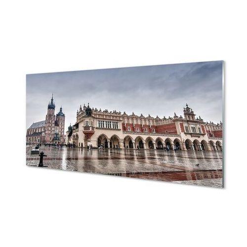 Obrazy na szkle Kraków Sukiennice kościół deszcz