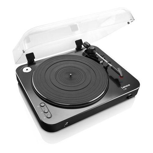 Gramofon l-85 czarny + darmowa dostawa + skorzystaj z rabatu i 5-letniej gwarancji w pakiecie korzyści! marki Lenco