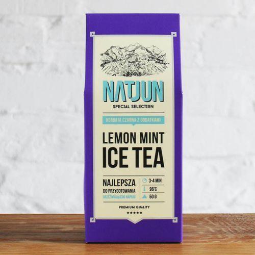 Herbata czarna lemon mint ice tea 50 g marki Natjun