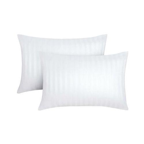 Zestaw 2 satynowych poszewek na poduszkę ABILY - 50 x 70 cm - kolor biały