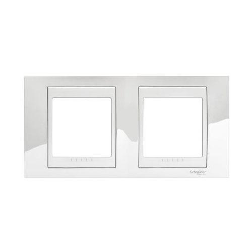 Schneider electric Ramka podwójna pozioma unica srebrny