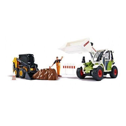 Dickie toys Zestaw budowlany spychacz i koparka