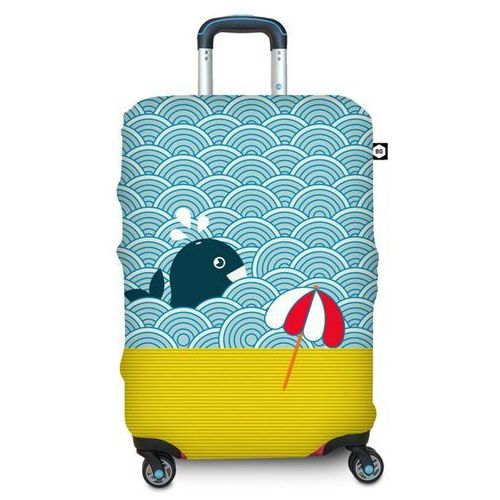 Pokrowiec na walizkę l - light whale marki Bg berlin